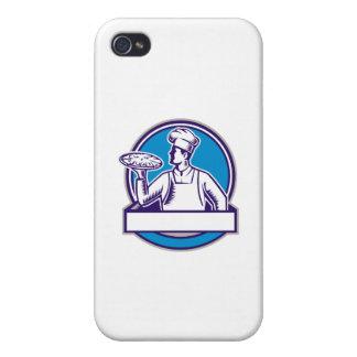 Pizza-Kochs-Umhüllungs-Pizza-Kreis-Holzschnitt Schutzhülle Fürs iPhone 4