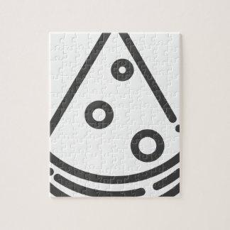 Pizza-Kontur Puzzle