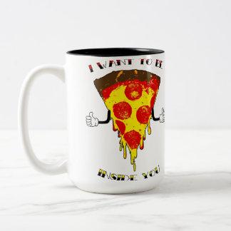 Pizza-Lieben Sie! Zweifarbige Tasse