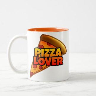 Pizza-Liebhaber Zwei-Ton Tasse (11 Unze.)