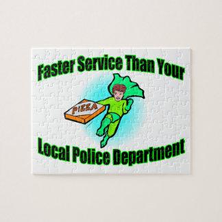 Pizza-Lieferung schneller als Polizei Puzzle