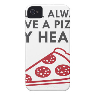 Pizza mein Herz iPhone 4 Cover