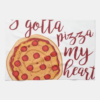 Pizza mein Herz Küchentuch