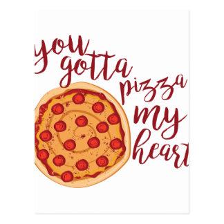 Pizza mein Herz Postkarte