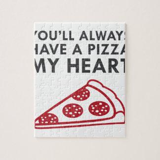 Pizza mein Herz Puzzle