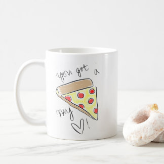 Pizza meine Herz-illustrierte Tasse