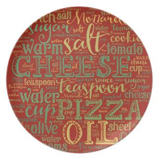 Pizza-Melamin-Platte Melaminteller