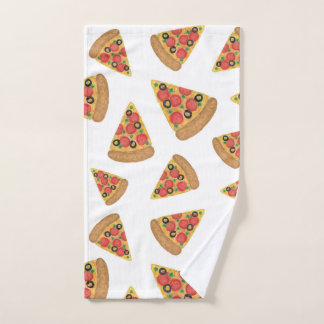 Pizza-Muster Badhandtuch Set