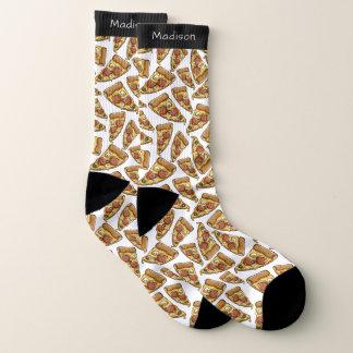 Pizza-Muster-Namesocken Socken