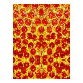 Pizza-Muster Postkarte