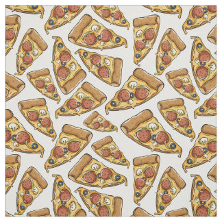 Pizza-Mustergewebe Stoff
