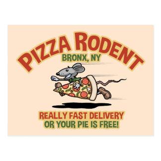 Pizza-Nagetier Postkarte