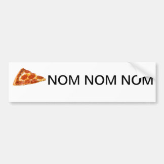 Pizza Nom Nom Nom Autoaufkleber