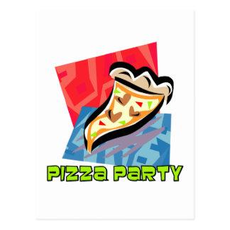Pizza-Party 1 Postkarte