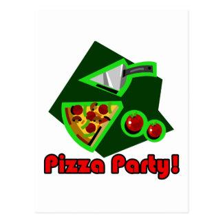 Pizza-Party 2 Postkarte