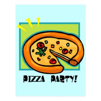 Pizza-Party 3 Postkarte