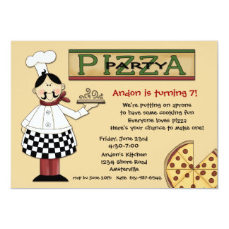 Pizza-Party Einladung