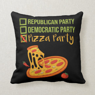 Pizza-Party - lustige Neuheits-Abstimmung Kissen