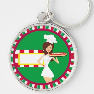Pizza-Partyschlüsselring Schlüsselanhänger