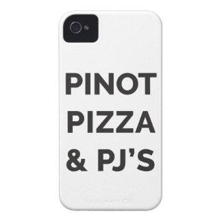 Pizza, Pinot und lustiger Wein-Druck PJS Case-Mate iPhone 4 Hülle