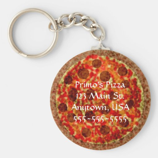 Pizza-Pizzeria kundenspezifisches förderndes Keych Schlüsselanhänger