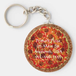 Pizza-Pizzeria kundenspezifisches förderndes Schlüsselanhänger