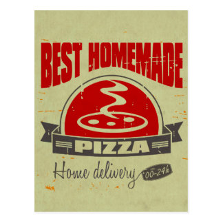 Pizza Postkarte