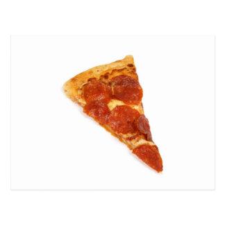Pizza-Scheibe - eine Scheibe der Pizza Postkarte