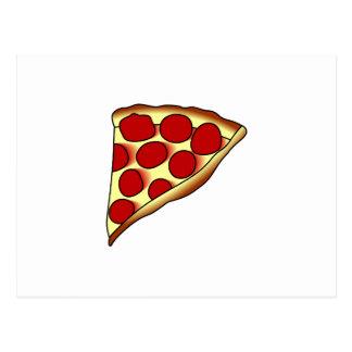 Pizza-Scheibe Postkarte