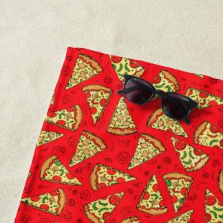 Pizza-Scheiben Strandtuch