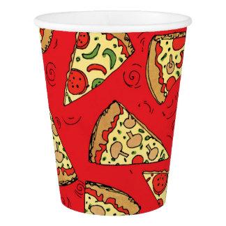 Pizza schneidet Muster Pappbecher