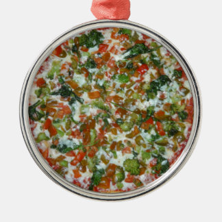 Pizza Silbernes Ornament