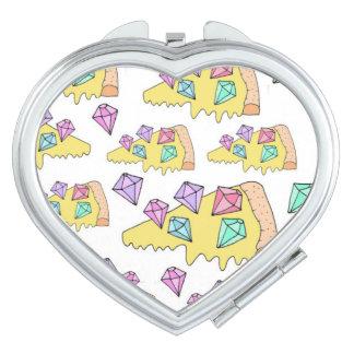 Pizza-Taschen-Spiegel Schminkspiegel