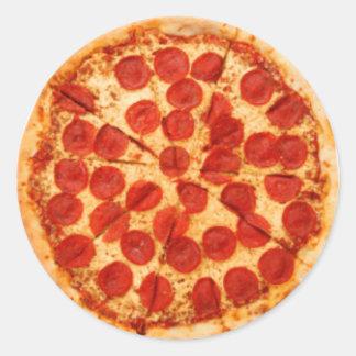Pizza-Torte Runder Aufkleber