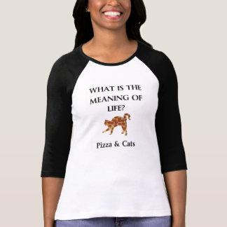 Pizza u. Katzen sind die Bedeutung des Lebens T-Shirt