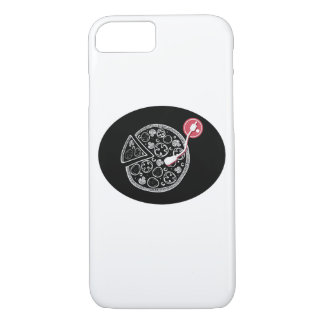 Pizza und Musik iPhone Fall iPhone 8/7 Hülle
