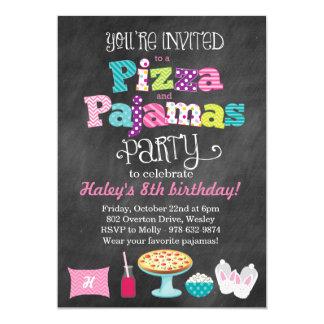 Pizza-und Pyjama-Party-Tafel-Einladung 12,7 X 17,8 Cm Einladungskarte