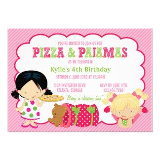 Pizza-und Pyjamassleepover-Party