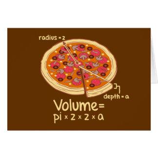 Pizza-Volumen mathematische Formel = Pi*z*z*a Karte