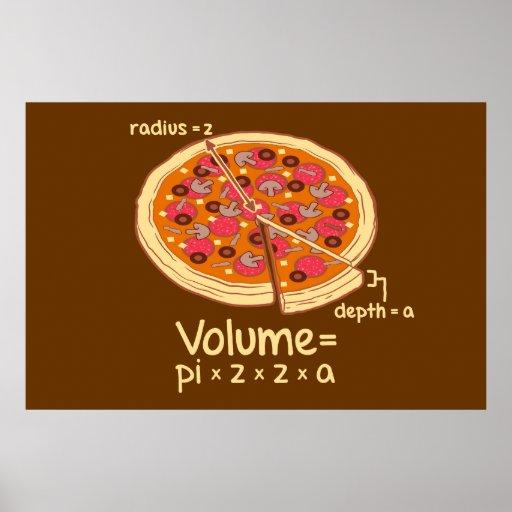 Pizza-Volumen mathematische Formel = Pi*z*z*a Posterdrucke
