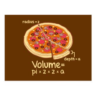 Pizza-Volumen mathematische Formel = Pi*z*z*a Postkarte