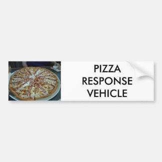 Pizza-Wartefahrzeug Autoaufkleber