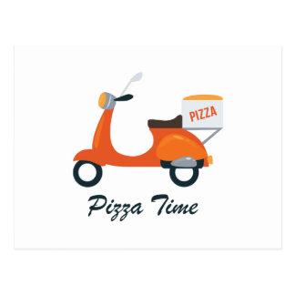 Pizza-Zeit Postkarte