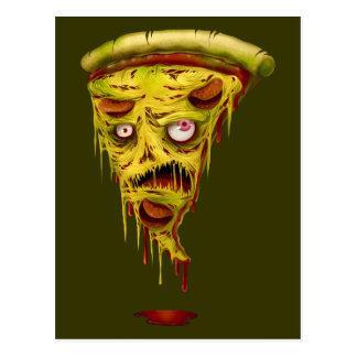 _pizza Zombie Postkarte