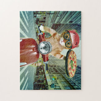 Pizzakatze - Katze - Pizzalieferung Puzzle