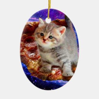 Pizzakatze - niedliche Katzen - Kitty - Kätzchen Keramik Ornament