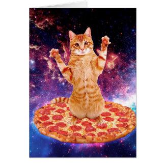 Pizzakatze - orange Katze - sperren Sie Katze Karte