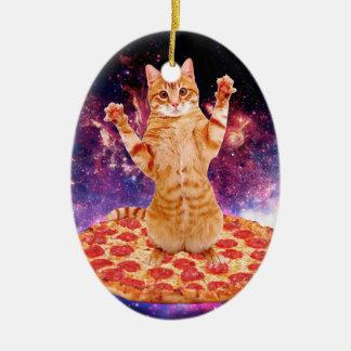 Pizzakatze - orange Katze - sperren Sie Katze Keramik Ornament