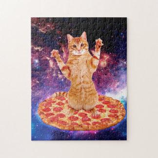 Pizzakatze - orange Katze - sperren Sie Katze Puzzle