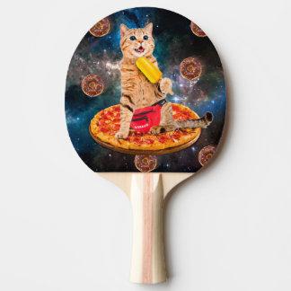 Pizzakatze - Raumkatze - orange Katze - Tischtennis Schläger